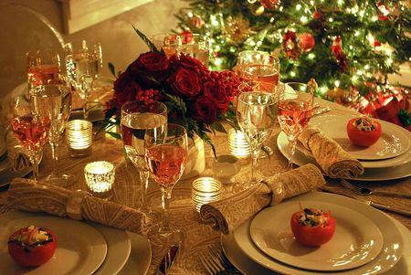 Сервировка стола к ужину