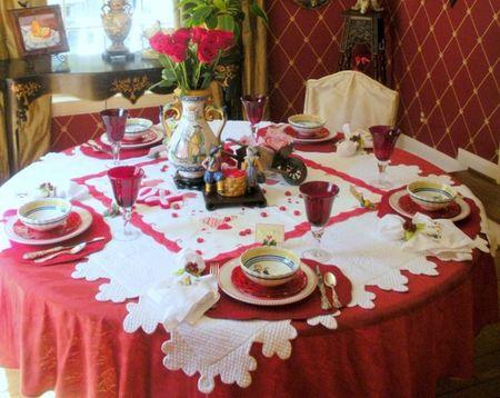 Праздничная сервировка стола к ужину