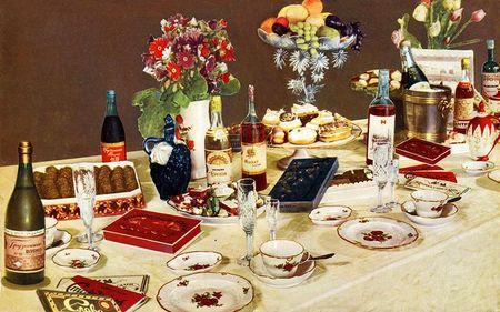 Сервировка стола на день рождения