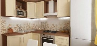 Компактный угловой гарнитур для кухни