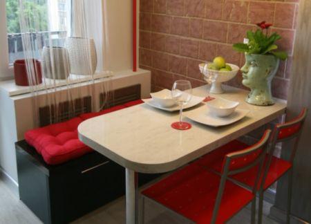 Оформление обеденной зоны на кухне фото